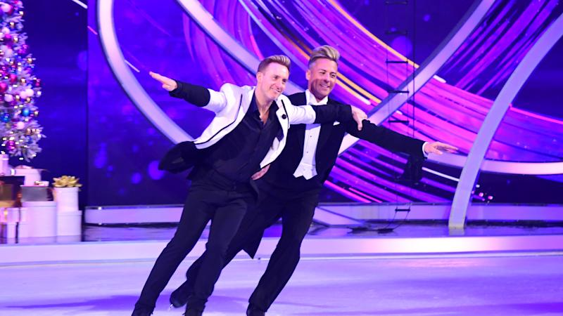 Ian 'H' Watkins breaks down in tears on Dancing On Ice after same-sex routine