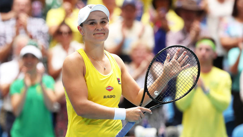 Ash Barty was awarded the Queensland Young Australian of the Year award. (Getty Images)