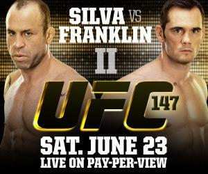 UFC 147: Silva vs. Franklin II Fight Card Finalized