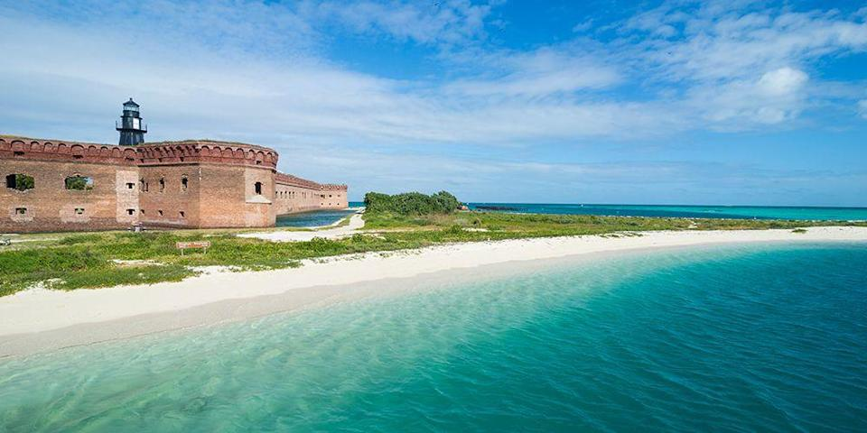 """<p>Located off the coast of Key West is <a href=""""https://www.bestproducts.com/fun-things-to-do/g2543/best-national-parks-for-hiking/"""" rel=""""nofollow noopener"""" target=""""_blank"""" data-ylk=""""slk:Dry Tortugas National Park"""" class=""""link rapid-noclick-resp"""">Dry Tortugas National Park</a>, a small island that's home to miles of untouched beaches (it's only accessible by boat or water plane). At this remote spot, you'll find some of South Florida's best snorkeling.</p><p><a class=""""link rapid-noclick-resp"""" href=""""https://go.redirectingat.com?id=74968X1596630&url=https%3A%2F%2Fwww.tripadvisor.com%2FHotel_Review-g34345-d1902906-Reviews-The_Gates_Hotel_Key_West-Key_West_Florida_Keys_Florida.html&sref=https%3A%2F%2Fwww.redbookmag.com%2Flife%2Fg34756735%2Fbest-beaches-for-vacations%2F"""" rel=""""nofollow noopener"""" target=""""_blank"""" data-ylk=""""slk:BOOK NOW"""">BOOK NOW</a> The Gates Hotel Key West</p><p><a class=""""link rapid-noclick-resp"""" href=""""https://go.redirectingat.com?id=74968X1596630&url=https%3A%2F%2Fwww.tripadvisor.com%2FHotel_Review-g34345-d6853077-Reviews-The_Marker_Waterfront_Resort-Key_West_Florida_Keys_Florida.html&sref=https%3A%2F%2Fwww.redbookmag.com%2Flife%2Fg34756735%2Fbest-beaches-for-vacations%2F"""" rel=""""nofollow noopener"""" target=""""_blank"""" data-ylk=""""slk:BOOK NOW"""">BOOK NOW</a> The Marker Waterfront Resort</p>"""