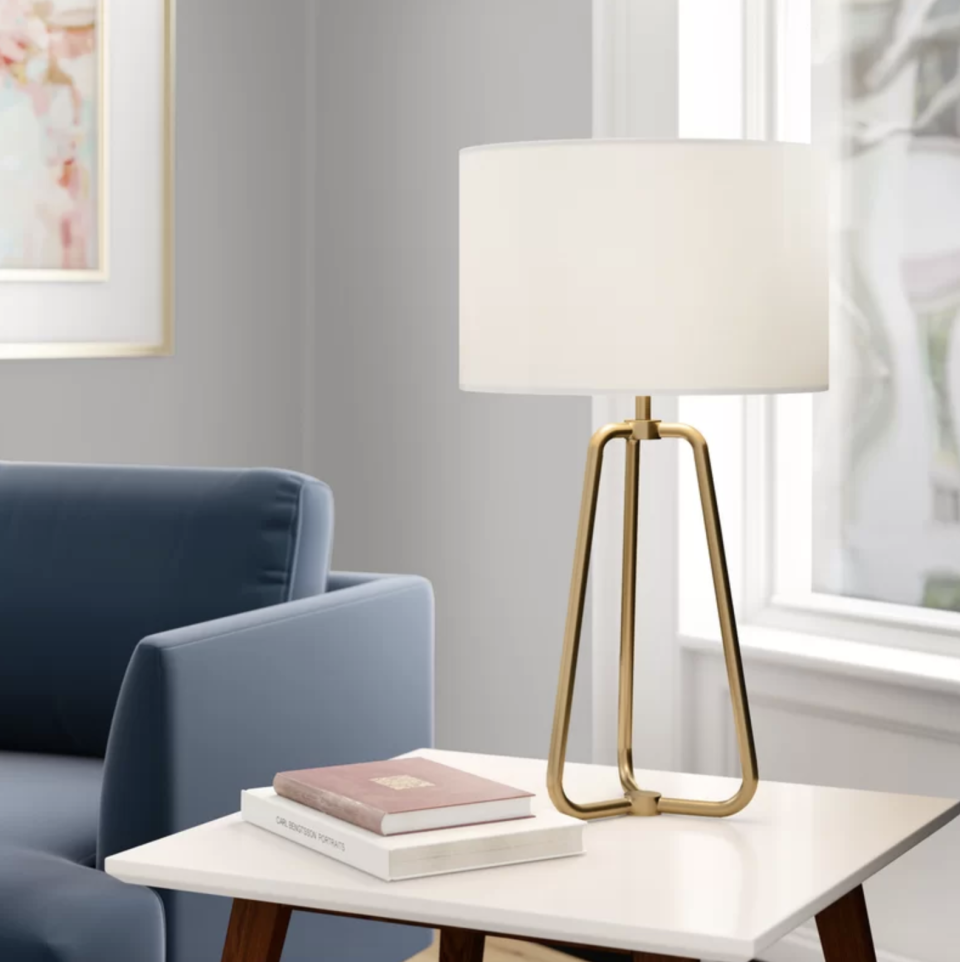 Style and function, rolled into one gorgeous lamp. (Photo: Wayfair)