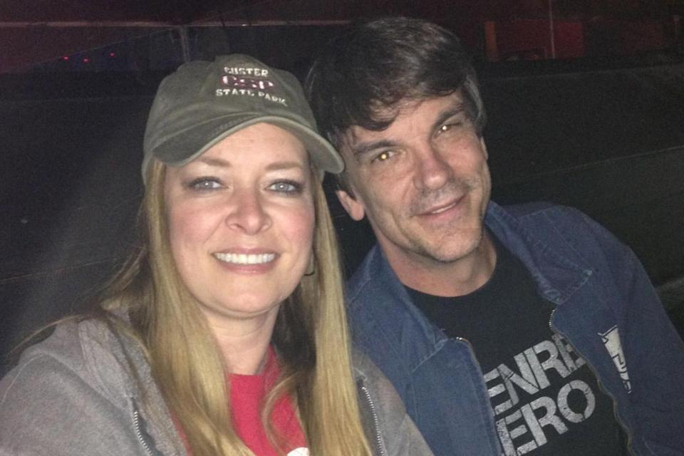 Kurt Cochran, of Utah, was killed in the Westminster terror attack, pictured with his wife Melissa.