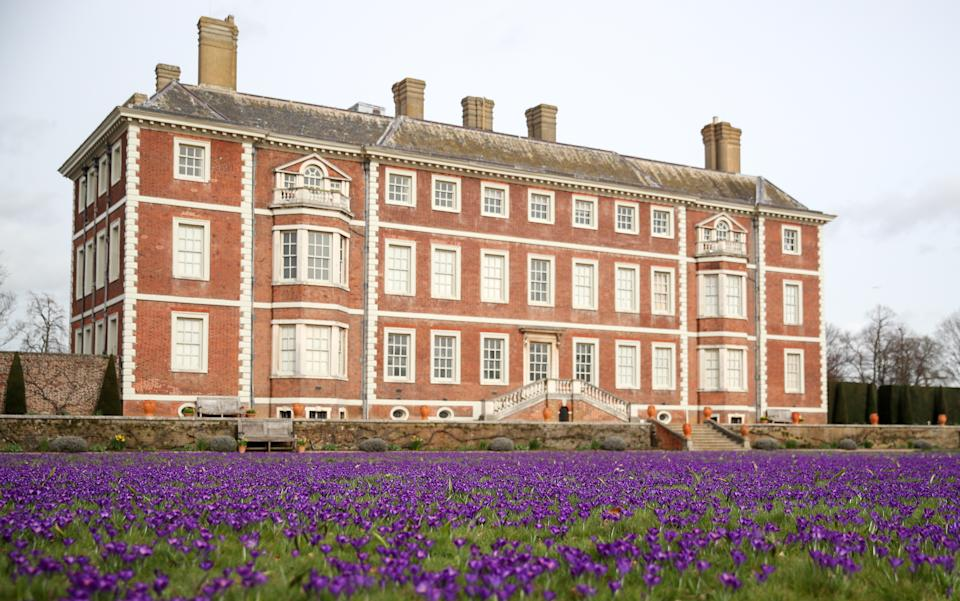 A carpet of crocuses in front of Ham House (Getty Images)