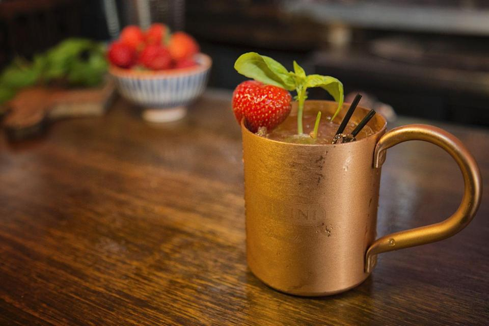 <p>If you don't like to deviate from what you know, this Amalfi Mule recipe adds a delightful twist to the classic Moscow Mule. Limoncello and lemon juice add a zesty, brighter replacement for gin and lime.</p><p><strong>Ingredients:</strong></p><p>2 ounces Pallini Limoncello</p><p>1/2 ounce fresh lemon juice</p><p>4 ounces ginger beer</p><p>1 Strawberry</p><p>4 Basil leaves</p><p><strong>Directions:</strong></p><p>Muddle the strawberry and basil in a mixing glass, then shake all ingredients except ginger beer. Strain over fresh ice in a mule mug, top with ginger beer and garnish with strawberry and basil.</p><p><em>Courtesy of Italian Trade Agency.</em></p>