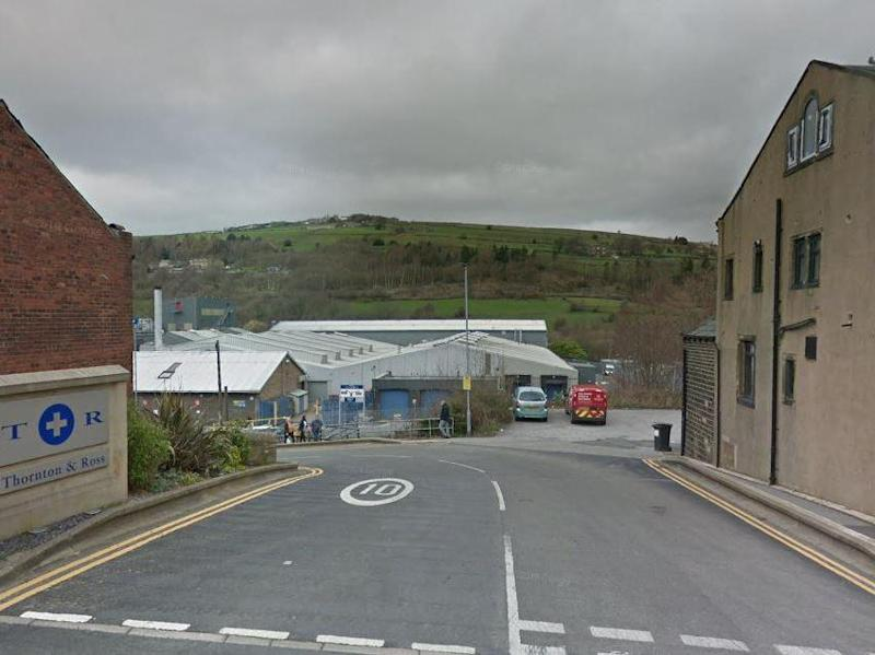 The attack took place outside the Thornton & Ross pharmaceutica plant on Manchester Road in Linthwaite around 11.45pm on Thursday: Google Maps