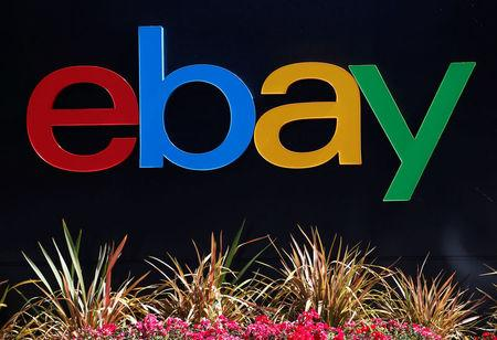FILE PHOTO: An eBay sign is seen at an office building in San Jose, California