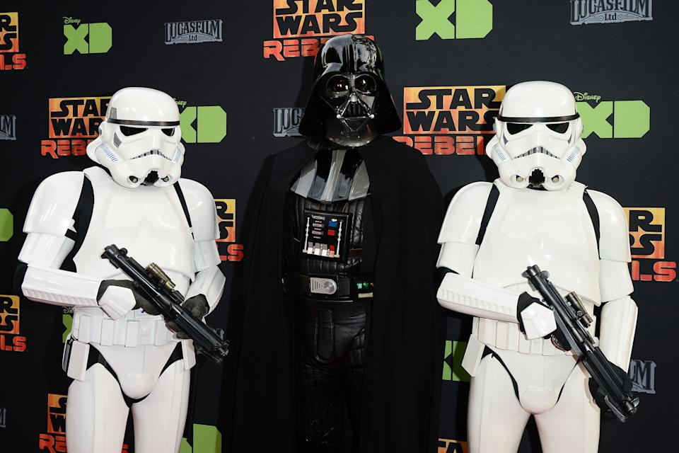 Personajes de Star Wars en un evento de Disney, el 28 de marzo de 2016 (GETTY IMAGES NORTH AMERICA/AFP/Archivos | Matt Winkelmeyer)