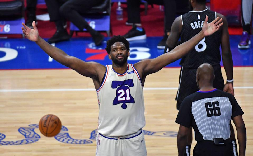 76ers center Joel Embiid is averaging a career-high 29.9 points a game and has dominated on both ends of the court.