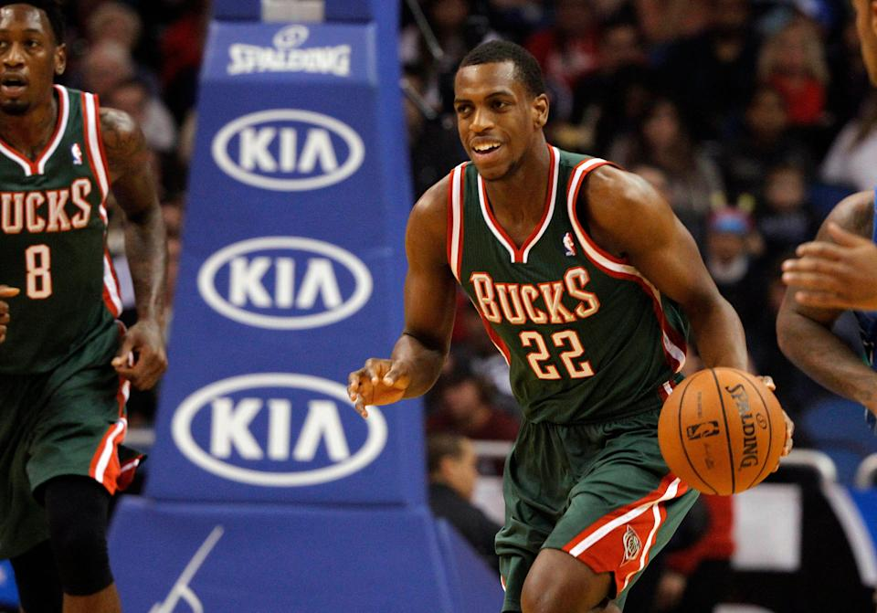 Khris Middleton was acquired by the Bucks in 2013. He was a No. 39 overall pick by the Pistons in 2012 and averaged 6.1 points and 1.9 rebounds in 27 games in his rookie season.