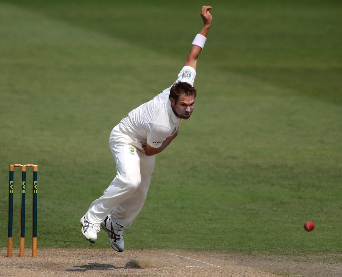 Australia's Ryan Harris during day four of the International Tour match at New Road, Worcester.