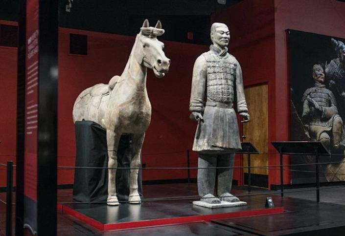 A terra-cotta horse and warrior from the Franklin Institute's exhibit. (Photo: The Franklin Institute)