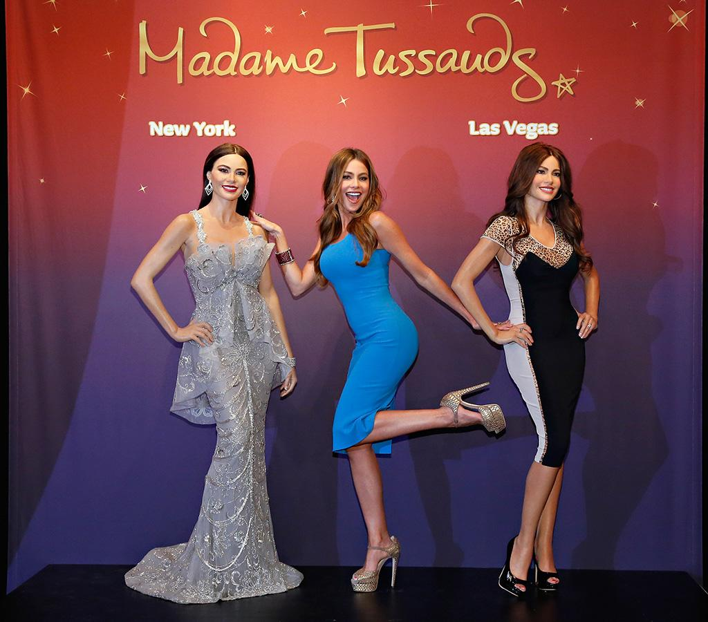 "Actress Sofia Vergara is not one to shy away from attention ... and she looked thrilled to have two more of herself available to be photographed! ""The Modern Family"" star posed with her wax figures at their unveiling in New York City on Tuesday. (6/4/2013)"
