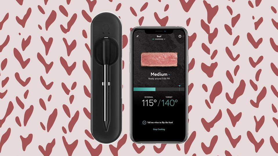 David likes this smart meat thermometer because it's so convenient.