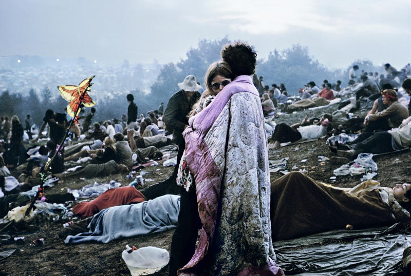 Nick and Bobbi Ercoline, the couple on the cover of Atlantic Records' original 1970 Woodstock: Music from the Original Soundtrack and More. | Burk Uzzle