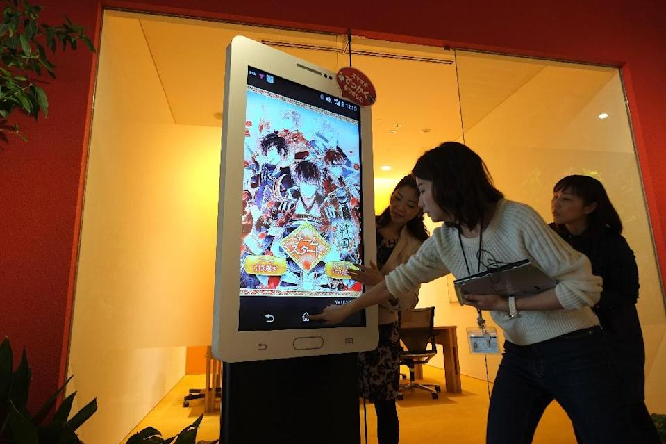 Female-targeted virtual romance games have ballooned into a market worth about 15 billion yen ($135 million) annually in Japan, according to the Tokyo-based Yano Research Institute (AFP Photo/Kazuhiro NOGI)