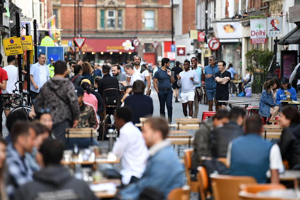 It is hoped pubs and restaurants can starting serving outdoors again from April 2021AFP via Getty Images