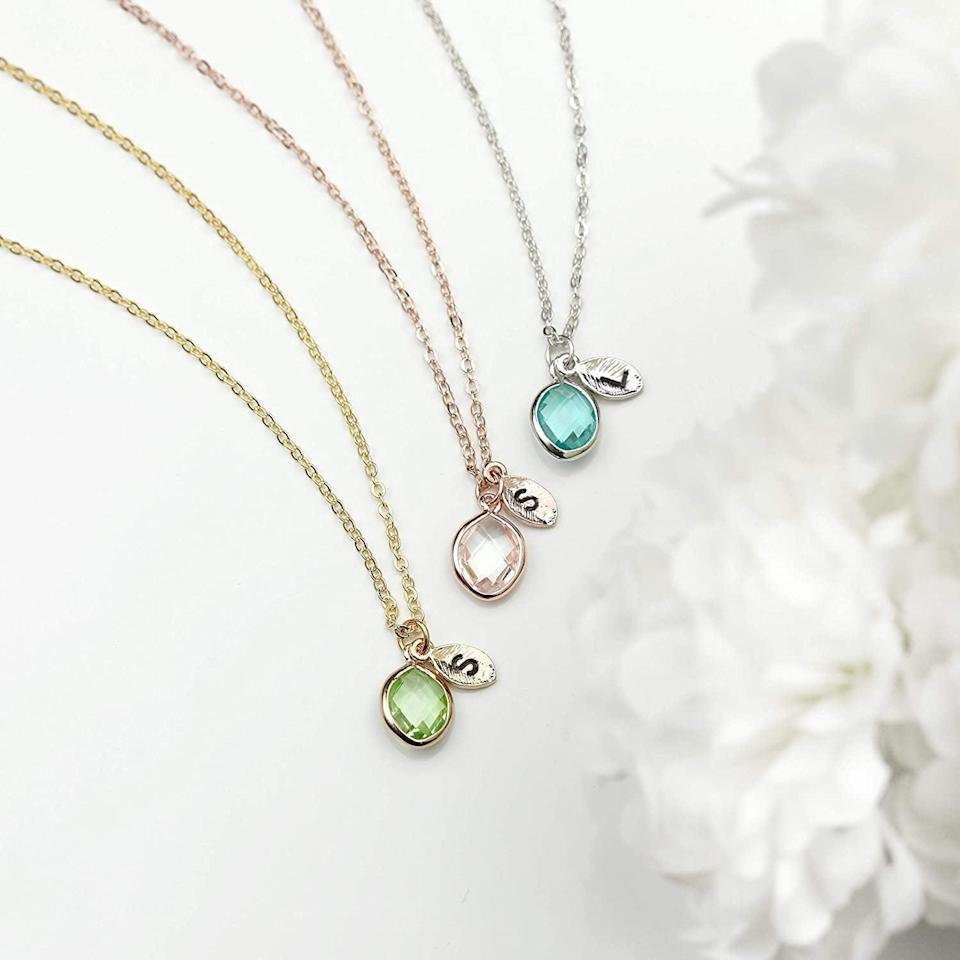 <p>How gorgeous is the <span>MignonandMignon Birthstone and Initial Necklace</span> ($18)!? It's the perfect gift for a loved one.</p>