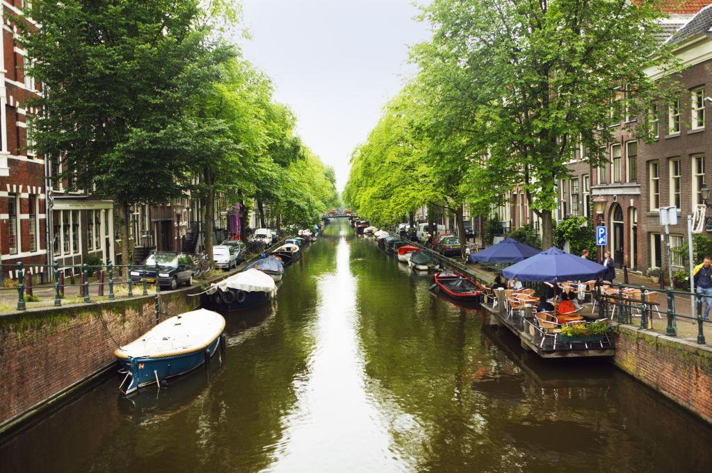 One of Amsterdam's postcard-perfect canals