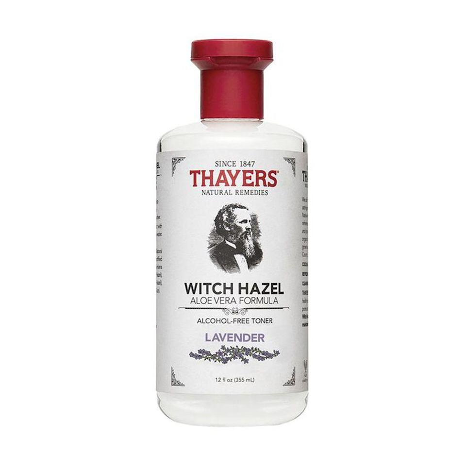 """<p><strong>Thayers</strong></p><p>amazon.com</p><p><strong>$10.95</strong></p><p><a href=""""https://www.amazon.com/dp/B000PIMUR8?tag=syn-yahoo-20&ascsubtag=%5Bartid%7C2089.g.249%5Bsrc%7Cyahoo-us"""" rel=""""nofollow noopener"""" target=""""_blank"""" data-ylk=""""slk:Shop Now"""" class=""""link rapid-noclick-resp"""">Shop Now</a></p><p>Ranked the number-one face toner on Amazon — <a href=""""https://www.bestproducts.com/beauty/a31979553/thayers-witch-hazel-facial-toner-review/"""" rel=""""nofollow noopener"""" target=""""_blank"""" data-ylk=""""slk:and also in our hearts"""" class=""""link rapid-noclick-resp"""">and also in our hearts</a> — you should definitely try Thayers Witch Hazel Toner if it's not already sitting in your bathroom cabinet. </p><p>Available in several different scent varieties, we love the lavender formula for its acne-solving properties and accessible price point. It's also perfect for calming sensitive skin.</p><p><strong>More: </strong><a href=""""https://www.bestproducts.com/beauty/g20966726/vitamin-c-face-serum-reviews/"""" rel=""""nofollow noopener"""" target=""""_blank"""" data-ylk=""""slk:Why These Vitamin C Serums Deserve a Spot in Your Skincare Routine"""" class=""""link rapid-noclick-resp"""">Why These Vitamin C Serums Deserve a Spot in Your Skincare Routine</a></p>"""