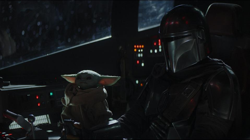 All aboard! The Child and the Mandalorian. (Disney)
