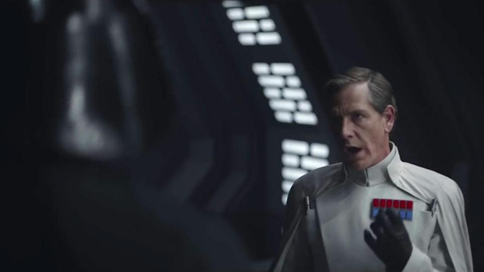 """<p>Darth Vader only appears fleetingly in a couple of brief but awesome scenes. This moment of Krennic confronted Vader about """"the power"""" of the Death Star from the 2nd story trailer isn't in the final film. Credit: Lucasfilm/Disney </p>"""