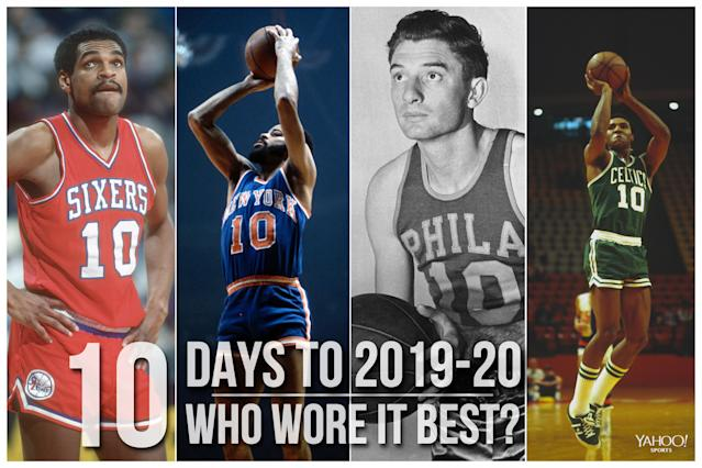 Which NBA player wore No. 10 best?