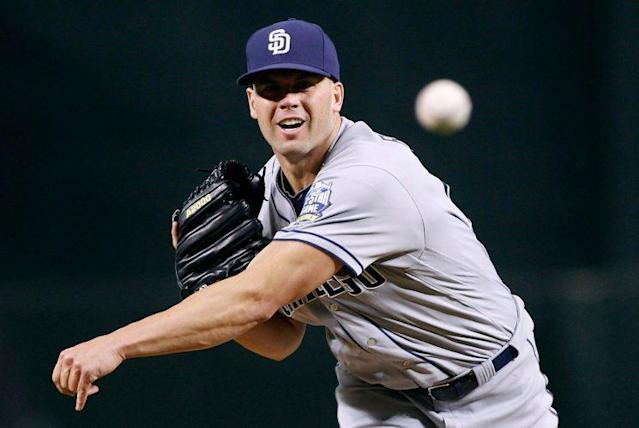 Clayton Richard might lead the Padres' rotation in 2017. (Getty Images/Ralph Freso)