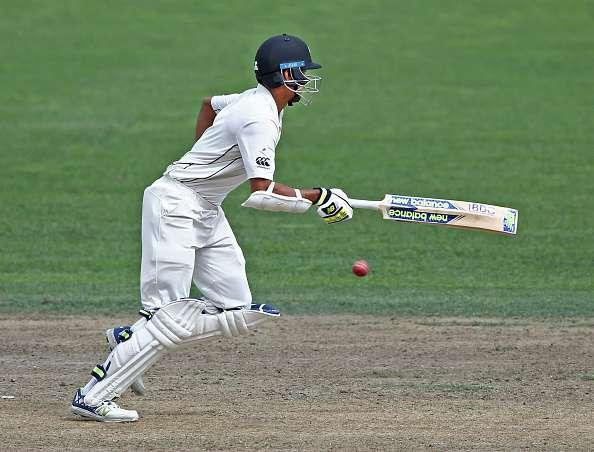 HAMILTON, NEW ZEALAND - MARCH 27: Jeet Raval of New Zealand bats during day three of the Test match between New Zealand and South Africa at Seddon Park on March 27, 2017 in Hamilton, New Zealand. (Photo by Dave Rowland/Getty Images)