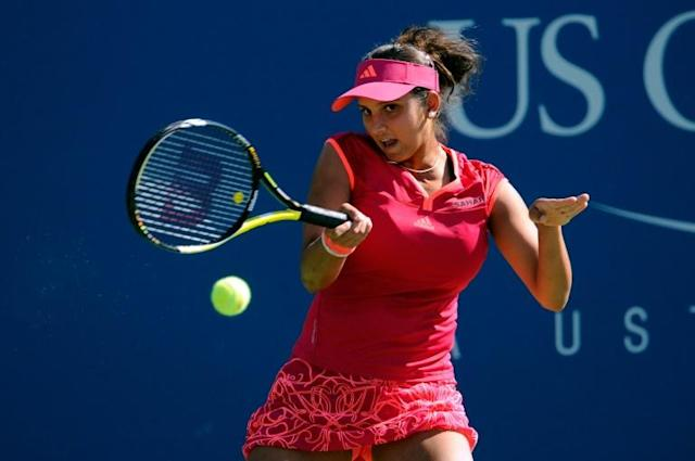 Indian tennis star Sania Mirza last played at the China Open in October 2017 before having a baby (AFP Photo/Patrick McDermott)