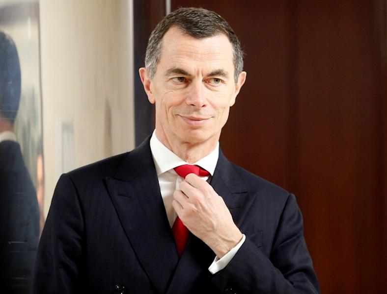 FILE PHOTO: Unicredit bank CEO Mustier looks on during the shareholders meeting in Rome
