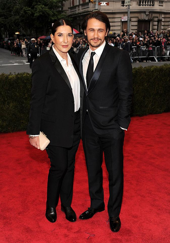 "<p class=""MsoNoSpacing"" style="""">James Franco hit the red carpet with artist Marina Abramovic in Gucci's Signoria tuxedo, which he paired with patent leather shoes.</p>"