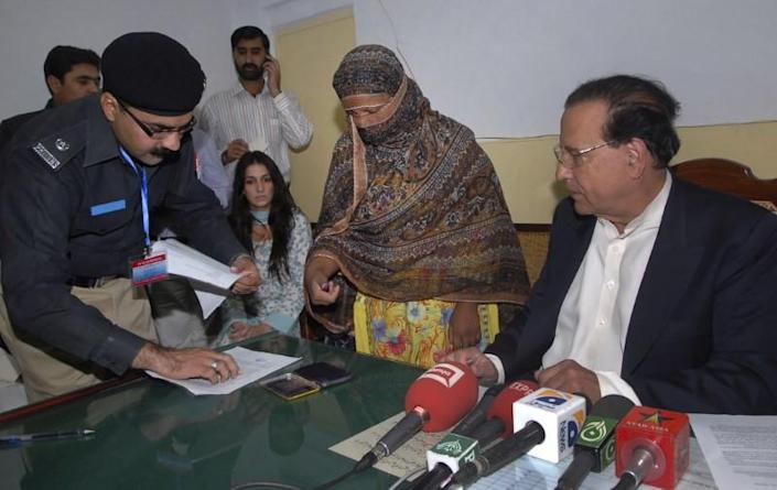 <em>Asia Bibi has been released after Pakistan's top court acquitted her in a landmark ruling (Picture: Reuters)</em>