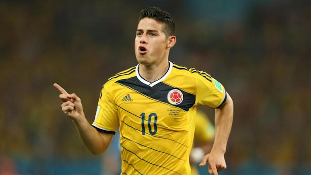 Real Madrid signs the top scorer at the World Cup, striker James Rodriguez on a six season contract