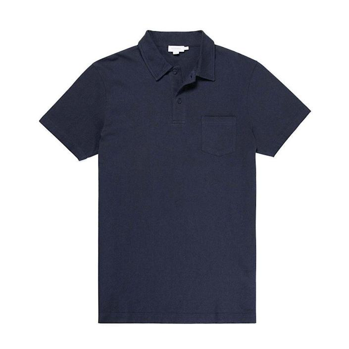 """<p>sunspel.com</p><p><strong>$105.00</strong></p><p><a href=""""https://www.sunspel.com/us/mens-cotton-riviera-polo-shirt-navy-mpol1026.html"""" rel=""""nofollow noopener"""" target=""""_blank"""" data-ylk=""""slk:BUY IT HERE"""" class=""""link rapid-noclick-resp"""">BUY IT HERE</a></p><p>If it's good enough for James Bond, it's good enough for dad. Elevate his style with simple-yet-elegant wardrobe staples, like the Riviera polo shirt from Sunspel worn by Daniel Craig in <em>Casino Royale</em>. This sophisticated shirt is both breathable and seriously soft, so when dad needs to dress up, he can easily channel the swagger of 007. </p>"""