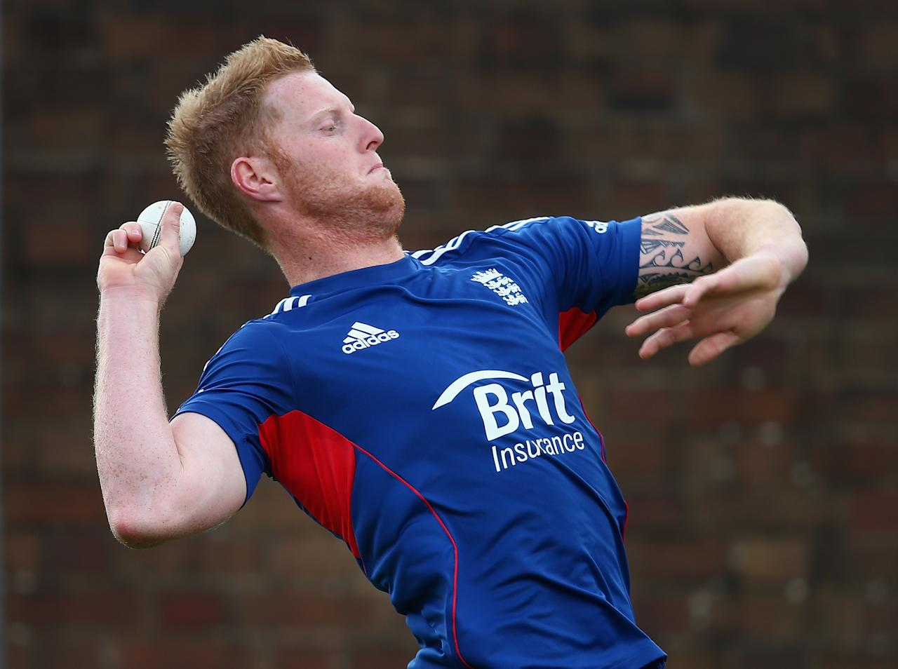 BIRMINGHAM, ENGLAND - SEPTEMBER 10:  Ben Stokes of England in action during a net session ahead of the third NatWest One Day International Series match between England and Australia at Edgbaston on September 10, 2013 in Birmingham, England.  (Photo by Clive Mason/Getty Images)