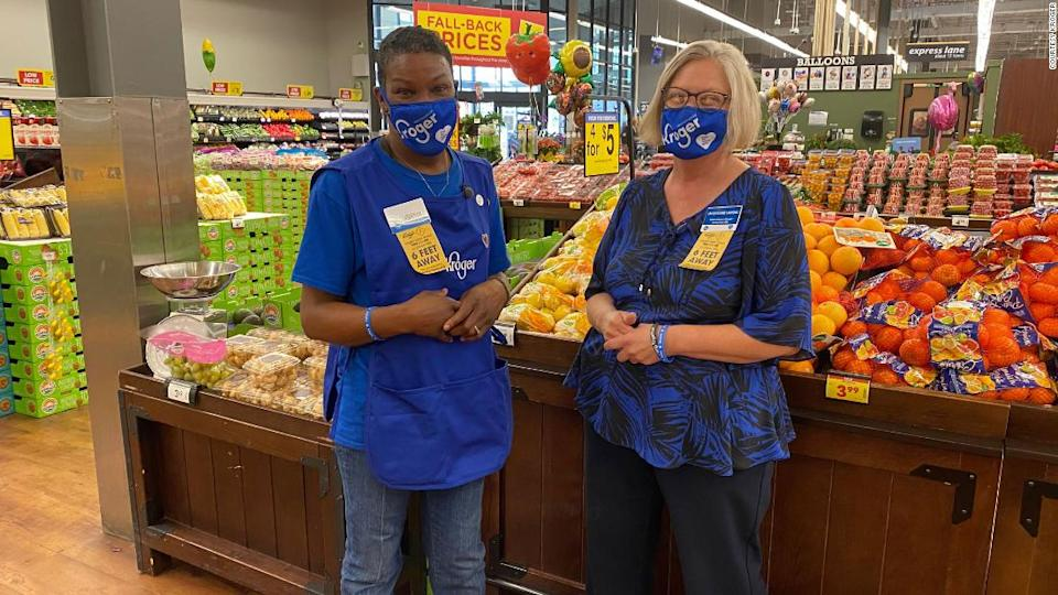 """<p>LaShenda Williams' manager Jackie Vandal helped her throughout the interview process for the Kroger position. """"I wish I had a whole team full of her,"""" Vandal says.</p><div class=""""cnn--image__credit""""><em><small>Credit: courtesy Kroger / kroger</small></em></div>"""