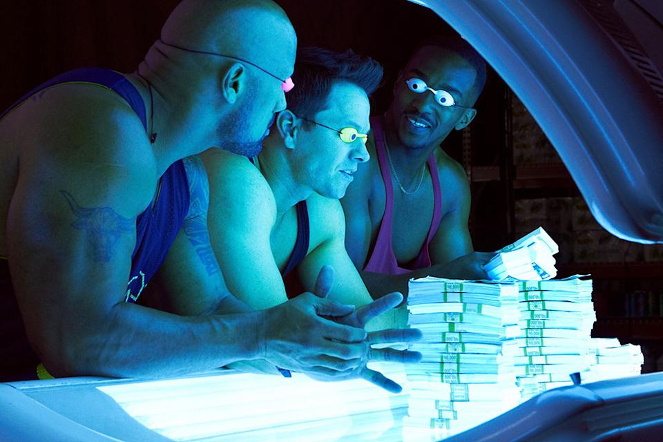 """Dwayne Johnson, Mark Wahlberg and Anthony Mackie in Paramount Pictures' """"Pain & Gain"""" - 2013"""