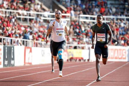 IAAF Athletics Diamond League - Men's 800m - Stockholm Stadium, Stockholm, Sweden - June 10, 2018 - Ramil Guliyev of Turkey wins the men's 800m event. TT News Agency/Christine Olsson via REUTERS
