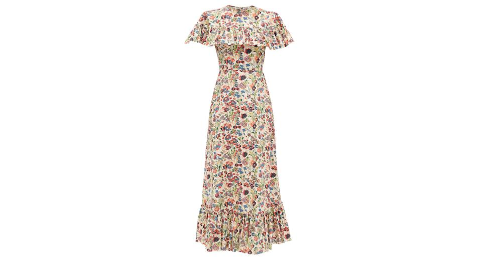 The Bombette ruffled floral-print cotton dress