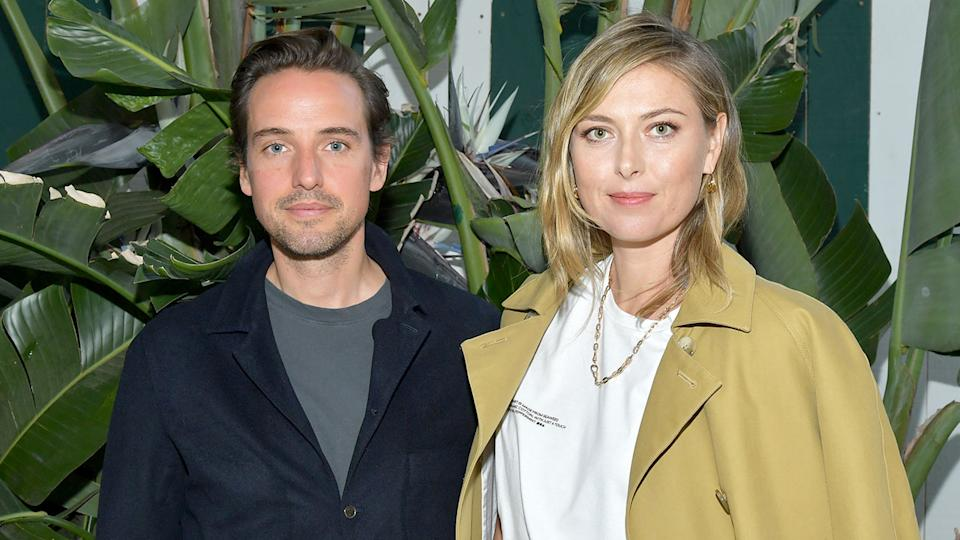 Pictured here, Alexander Gilkes and Maria Sharapova have confirmed their engagement.