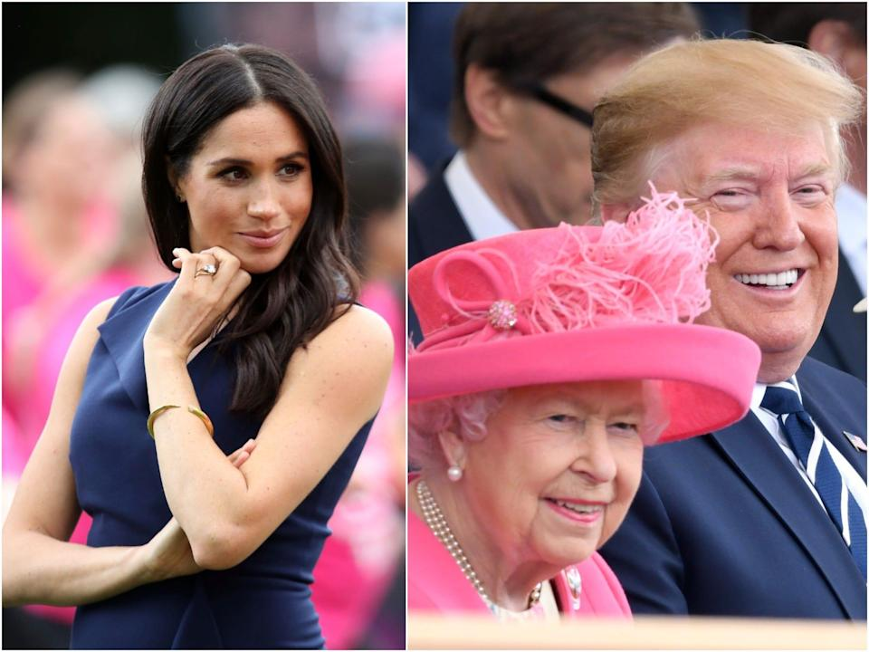 meghan markle, queen and donald trump