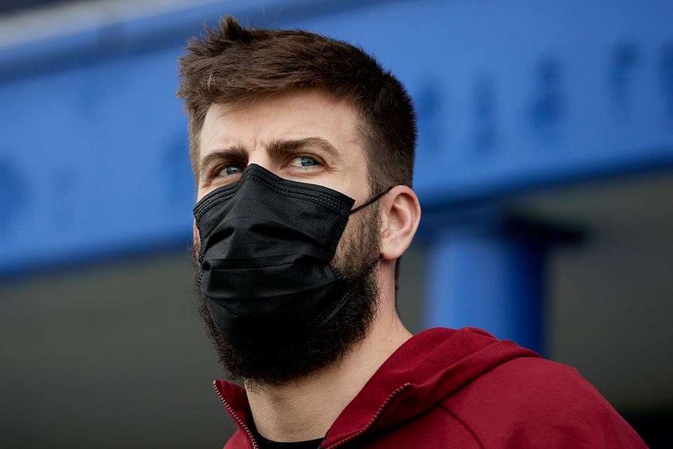 Gerard Piqué prior he Segunda Division B Group 3A match between RCD Espanyol B and FC Andorra at Ciudad Deportiva Dani Jarque in Sant Adria on October 18, 2020.   (Credit: David Ramirez) (Photo by DAX Images/NurPhoto via Getty Images)