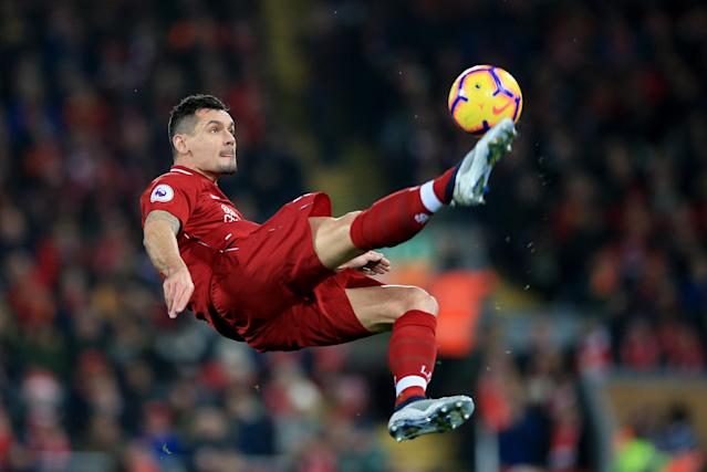 Liverpool's Dejan Lovren shows his acrobatic side in a thrilling Anfield win