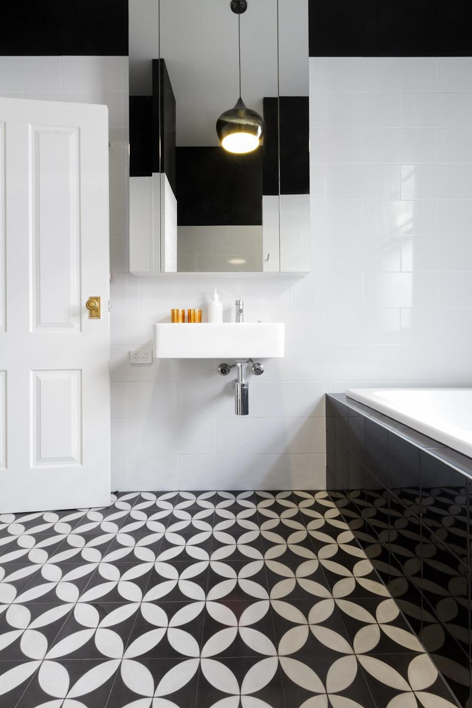 Monochrome bathrooms and patterned tiles were a turn-off for home-buyers (Getty Images)