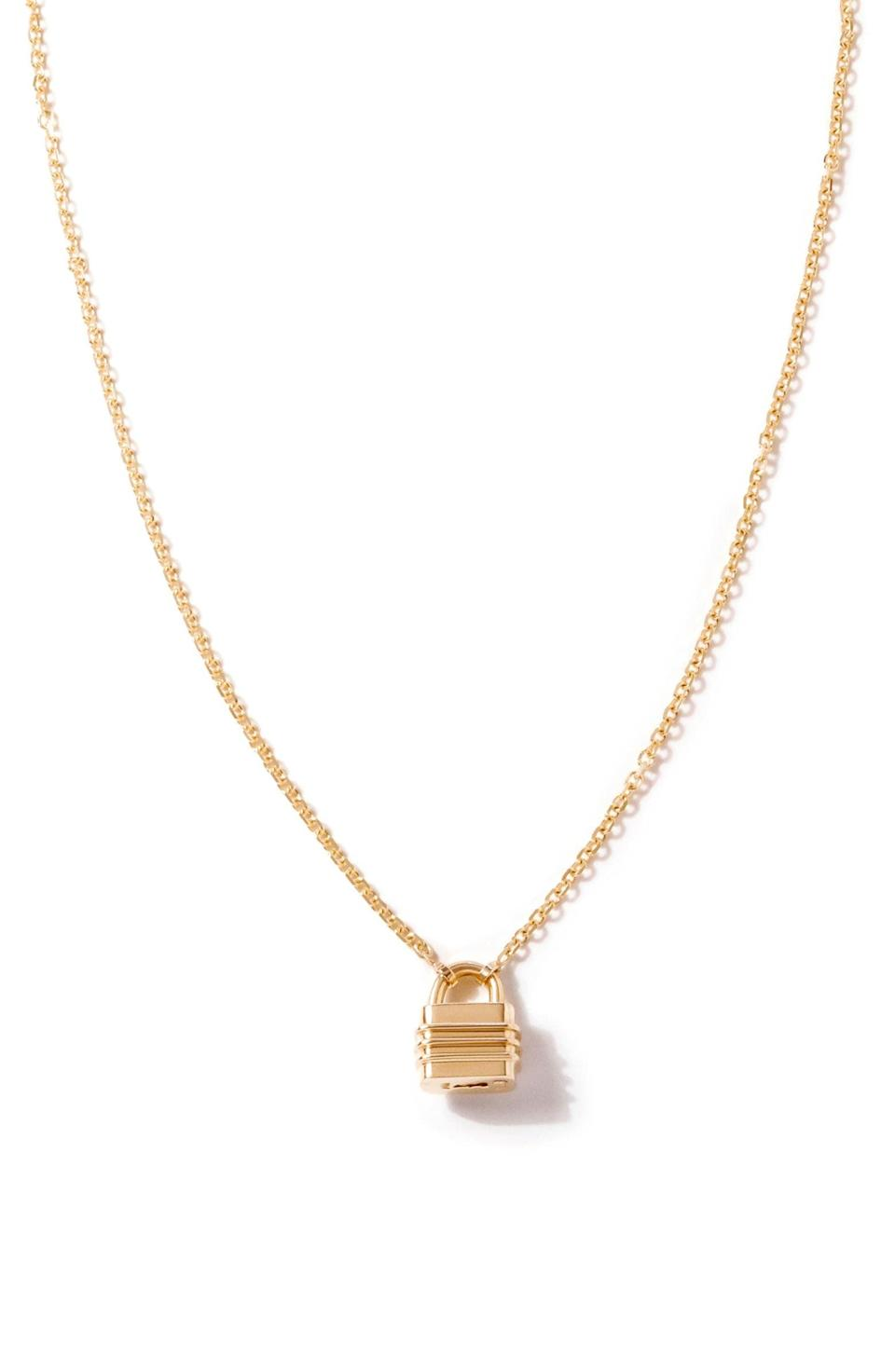<p>This <span>Bernard James Liberte 14k Gold Pendant Necklace</span> ($1,950) is a sentimental piece that will be treasured for years.</p>