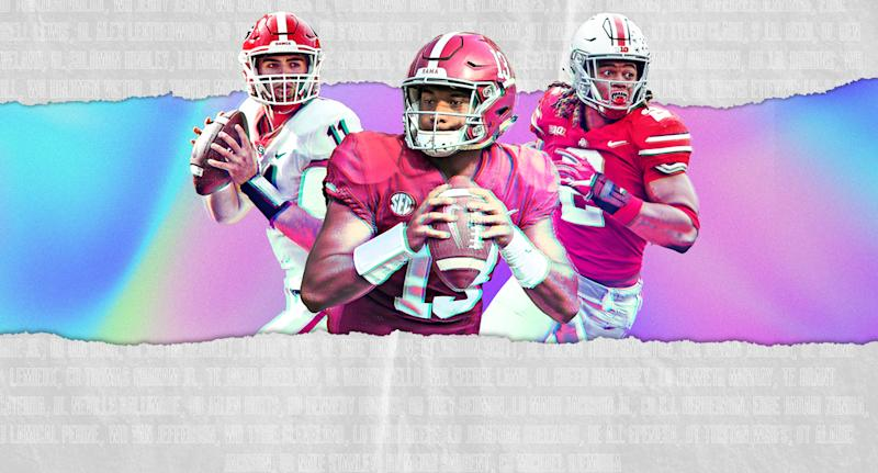 Alabama, Georgia and Ohio State lead college football in NFL talent heading into the 2020 draft. (Yahoo Sports)