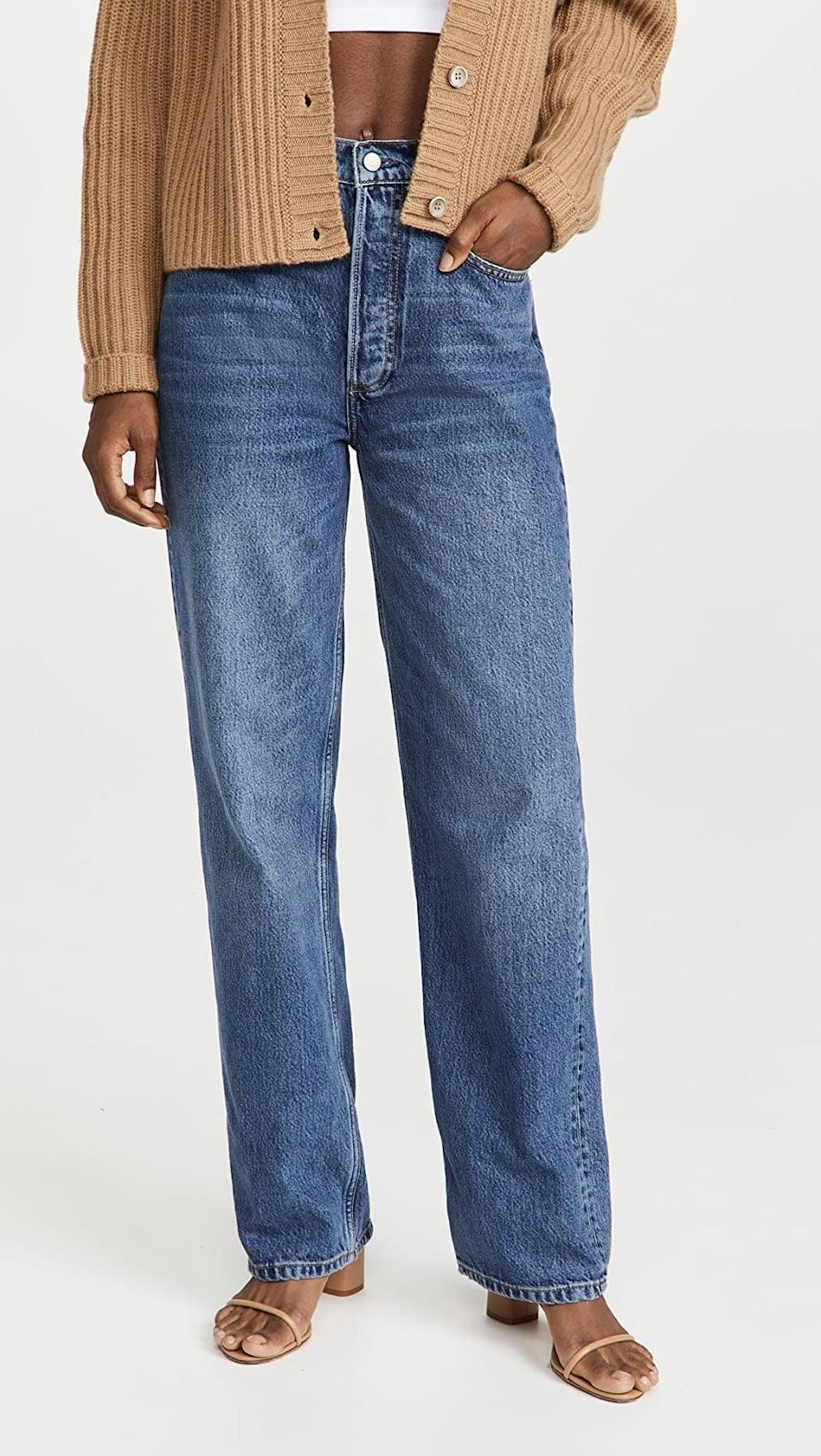<p>These slightly baggy, straight leg jeans are the silhouette of the moment. These <span>Boyish Ziggy High Rise Carpenter Jeans</span> ($168) are cool and flattering.</p>