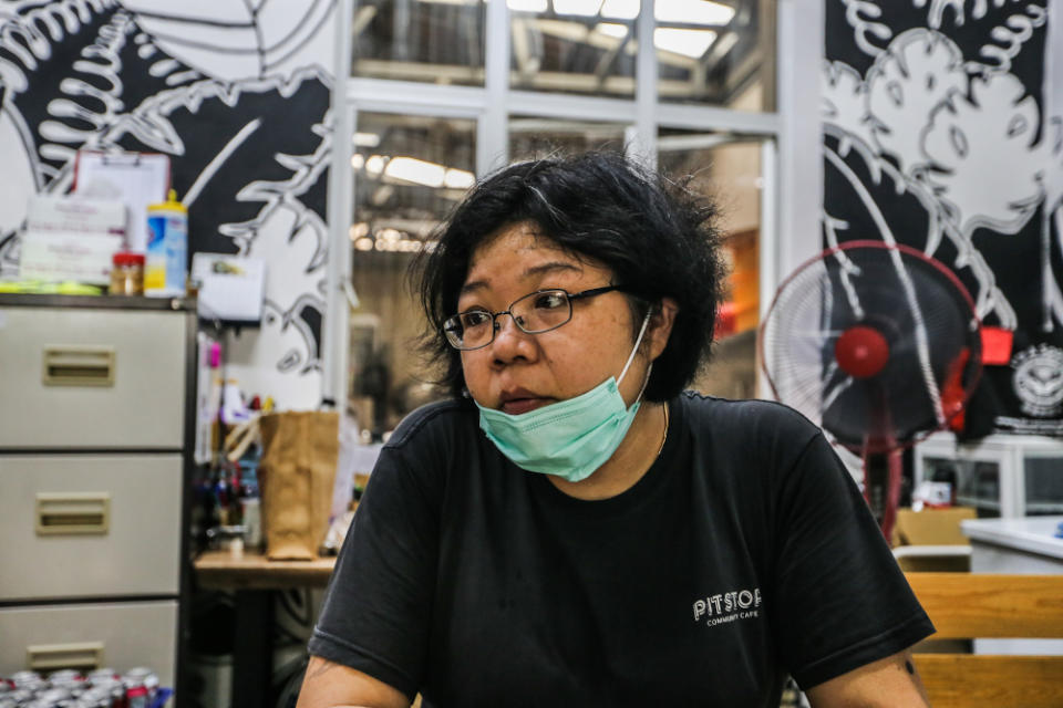 Pit Stop Community Cafe co-founder Joycelyn Lee speaks to Malay Mail during an interview in Kuala Lumpur March 30, 2020. — Picture by Firdaus Latif