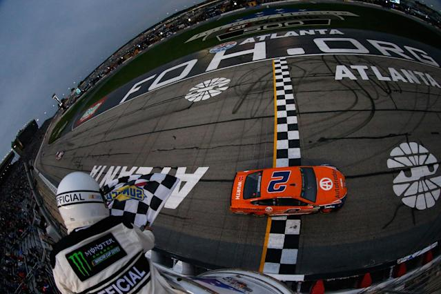 """<a class=""""link rapid-noclick-resp"""" href=""""/nascar/sprint/drivers/1124/"""" data-ylk=""""slk:Brad Keselowski"""">Brad Keselowski</a> won at Atlanta in what we thought at the time was the last race on the track's surface. (Getty)"""
