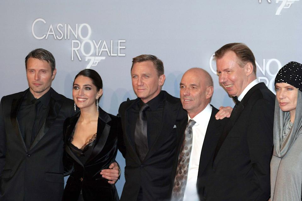 Mads Mikkelsen, Caterina Murino, Daniel Craig, director Martin Campbell, Ludger Pistor and Veruschka von Lehndorff (Photo by Anita Bugge/WireImage)